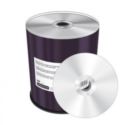 Prof. Line DVD-R 4.7GB|120min 16x speed, inkjet FF printable, Pros. silver, wide sputtered, Cake 100