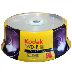 Kodak DVD-R 4,7GB|120min 16X speed Pack 25