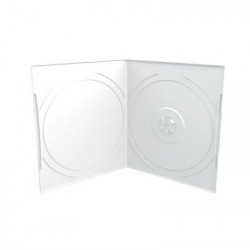 Estuche CD/DVD Half-Size 7mm, Pocket-Sized, 1 Disco, Transparent / Fronted