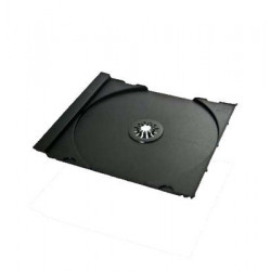 CD Tray for jewelbox, for 1 disc, machine packing grade, transparent 200uni