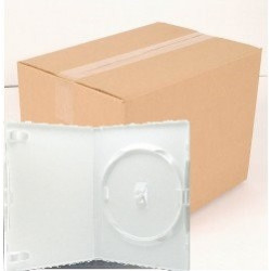 Pack 50 Amaray DVD Case for 1 disc, 14mm, with clips, white