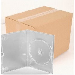 Pack 50 Amaray 14mm Caixa DVD para 1 disco with clips, Transparente