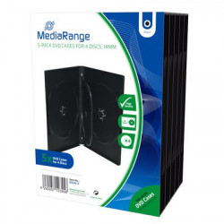 Pack 5 MediaRange DVD Case for 1 disc, 14mm, black