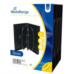 Pack 3 MediaRange DVD Case for 8 disc, 27mm, black