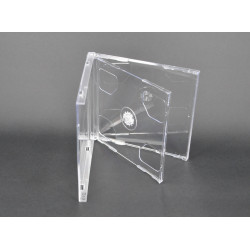 Capa CD Jewelcase 10.4mm para 2 CD/DVD Transparente MediaRange