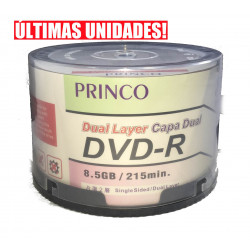 DVD-R Dual Layer 8.5GB Princo 8X - Pack 50