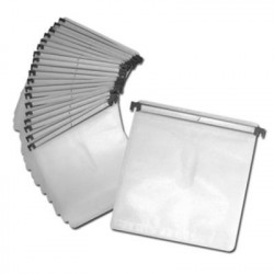 Sleeves with plastic bar for DJ cases, for 2 discs, white, Pack 20