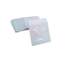 MediaRange Paper sleeves for 1 disc, for Mini CD-R and Mini DVD-R, with flap and window, white, Pack 50