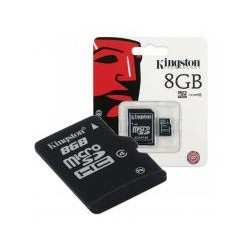 Kingston SDC4/8GB Micro SDHC 8GB Clase 4 + Adaptador SD