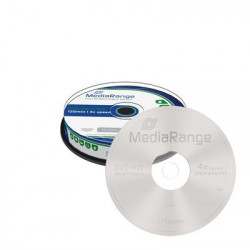 MediaRange DVD-RW 4.7GB 120min 4x speed, rewritable, Cake 10