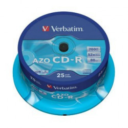 Verbatim CD-R AZO 700MB 52X CRYSTAL SURFACE Cake 25