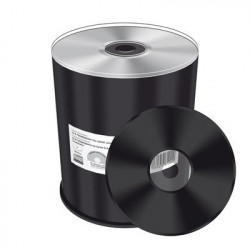 CD-R Mediarange 52x Silver Thermal Printable 100 uds (Negro)