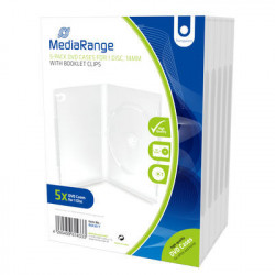 MediaRange DVD Case for 1 disc, 14mm, transparent, Pack 5
