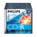 Philips CD-R 80Min 700MB 52x Slim Case (10 unidades)