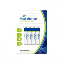 MediaRange Rechargeable NiMH Accus, Micro AAA|HR03|1.2V, Pack 4