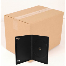 Pack 100 DVD Box 14mm Standard Black for 1 Disc