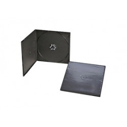 Caja CD/DVD 5.2mm Half Size para 1 Disco Negro