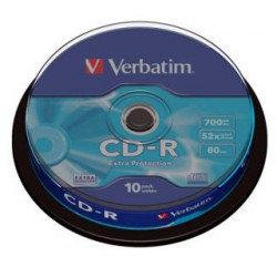 Verbatim CD-R 700MB 52X EXTRA PROTECTION SURFACE Cake 10