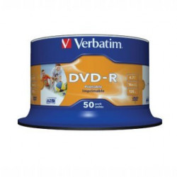 Verbatim DVD-R AZO 4.7GB 16X WIDE PRINTABLE SURFACE NON-ID Cake 50