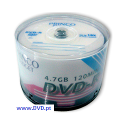 DVD-R Princo Budget Blue 16X - Pack 50