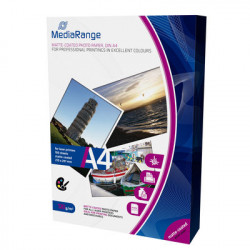 MediaRange DIN A4 Photo Paper for laser printers, matte-coated, 120g, 100 sheets