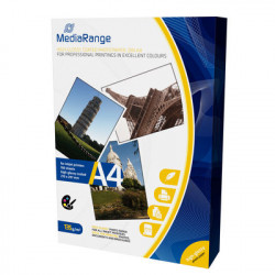 MediaRange DIN A4 Photo Paper for inkjet printers, Brilhante, 135g, 100 sheets