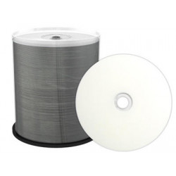 Prof. Line CD-R 700MB 80min 52x, inkjet FF printable, white, MRPL501-C, wide sputtered, Cake 100