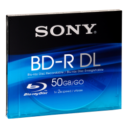 BD-R Sony DL 50GB 4X - 1 jewelcase
