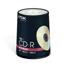 CD-R TDK 52x 700MB/80m Pack 100