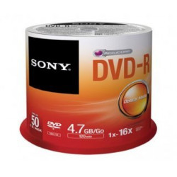 DVD-R Sony 4.7GB - 120M 16X Pack 50