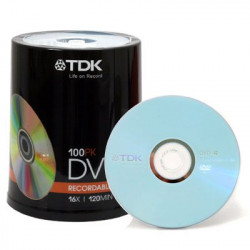 TDK DVD-R 4.7 GB - 16x - 100 pcs in Cakebox