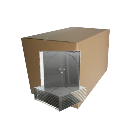 Alta Qualidade - CD Slimcase for 1 disc, 5.2mm, machine packing grade, black tray