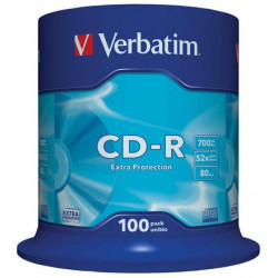 Verbatim CD-R 700MB 52X EXTRA PROTECTION SURFACE Cake 100