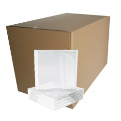 Pack 100- CD Slimcase 5,2mm para 1 CD/DVD Transparente