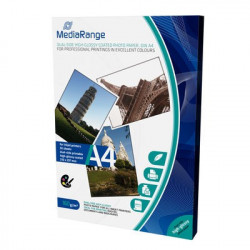 MediaRange DIN A4 Photo Paper for inkjet printers, dual-side high-glossy coated, 160g, 50 sheets