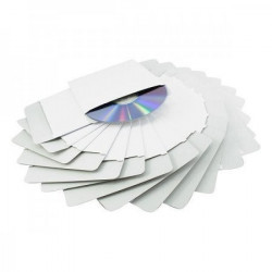 MediaRange Cardboard sleeves for 1 disc, with flap, without window, white, Pack 50