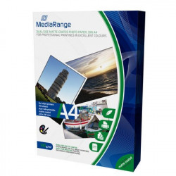 MediaRange DIN A4 Photo Paper for inkjet printers, dual-side matte-coated, 140g, 100 uni